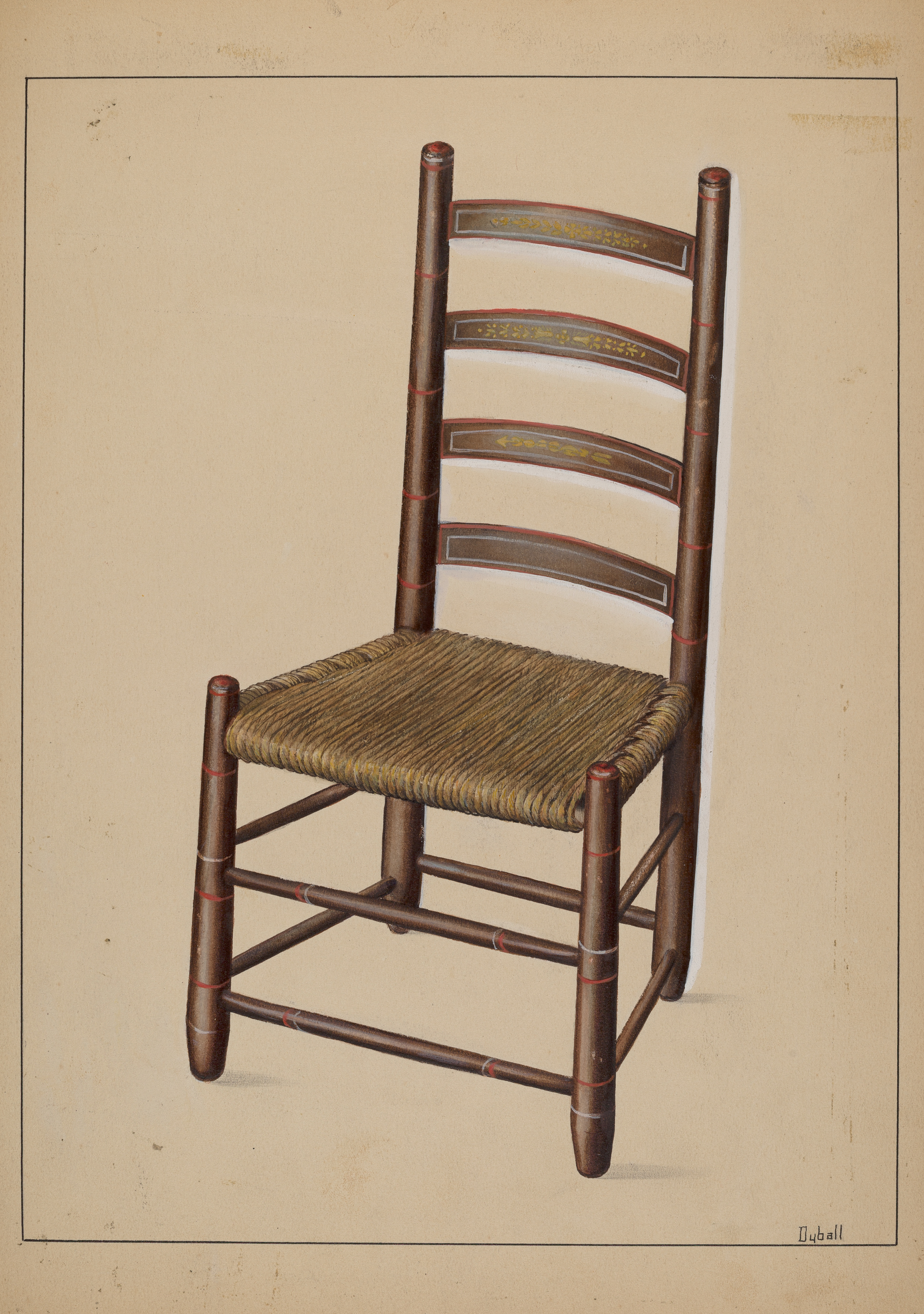 Picture of: File Adelaide Dyball Ladder Back Chair C 1937 Nga 16642 Jpg Wikimedia Commons