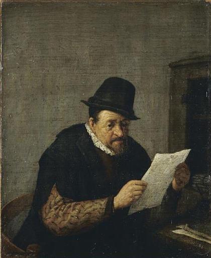 File:Adriaen van Ostade - A Man Reading at his Desk.jpg