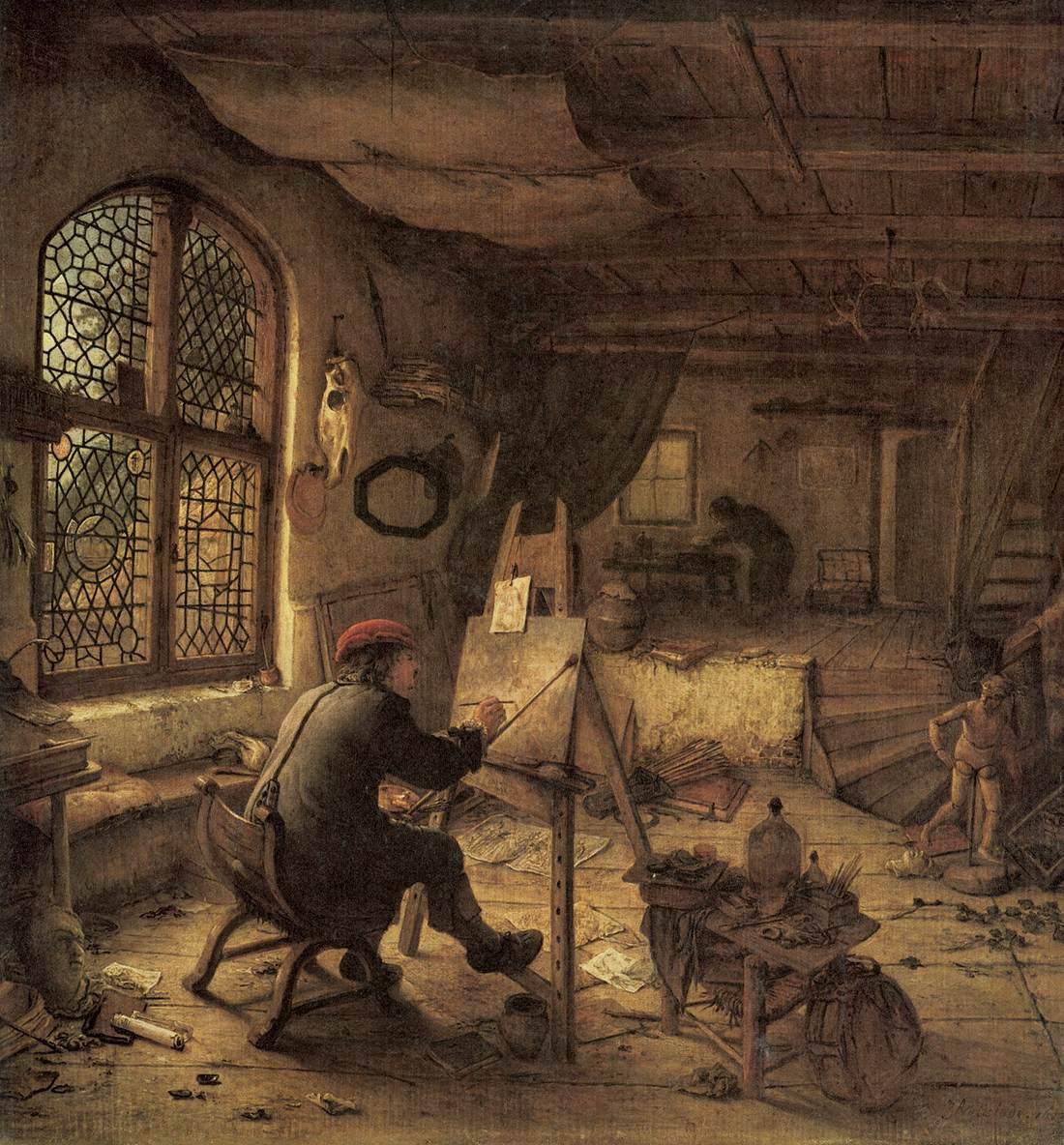 File:Adriaen van Ostade - The Painter in His Studio - WGA16748.jpg