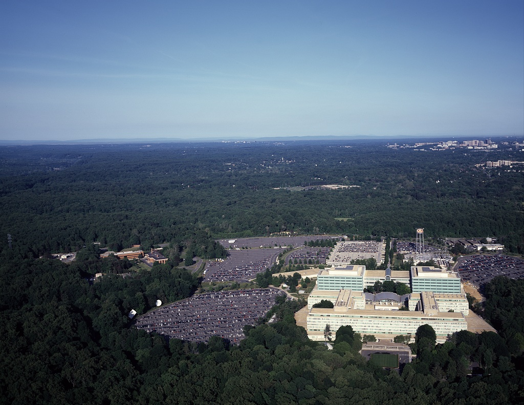 File Aerial View Of Cia Headquarters Langley Virginia