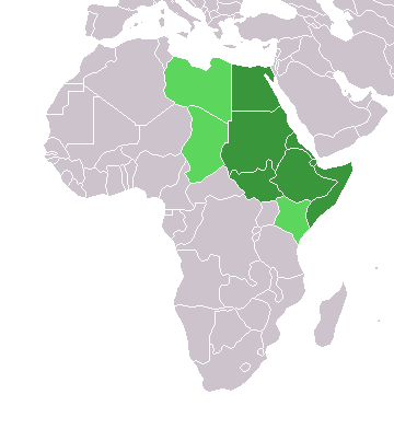 Map Of Northeastern Africa Northeast Africa   Wikipedia