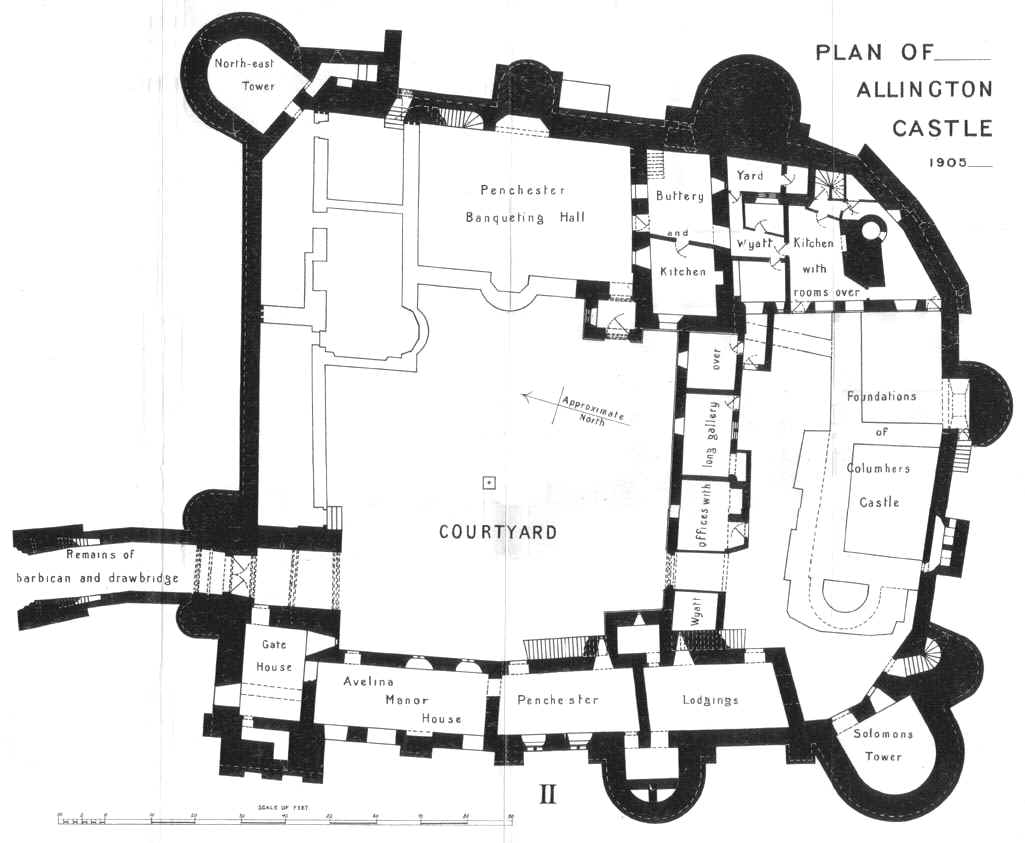 File Allington Castle Plan 1906 Jpg Wikimedia Commons