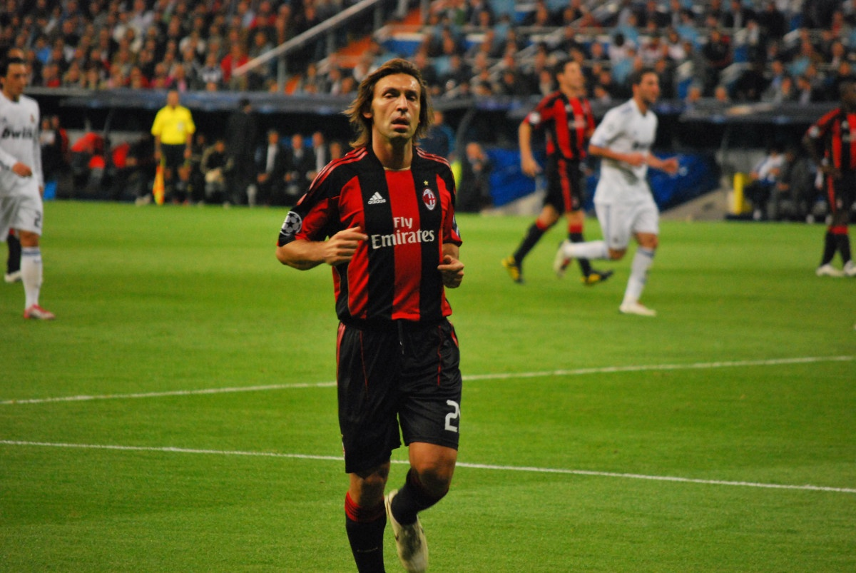 Andrea Pirlo during Real Madrid CF-AC Milan, 2010–11 UEFA Champions League
