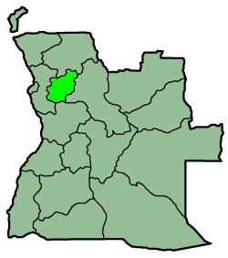 Placering af Cuanza Norte i Angola
