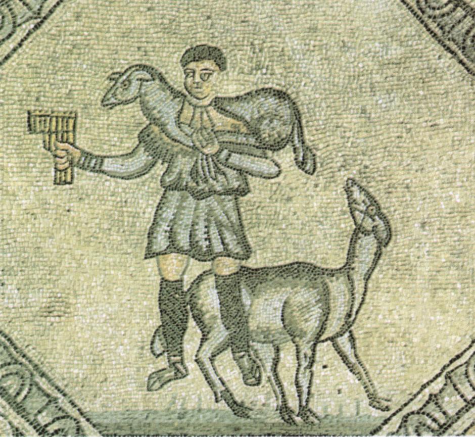 Пронађена најстарија црква у Србији Aquileia,_buon_pastore,_pavimento_della_basilica,_1a_met%C3%A0_del_IV_secolo