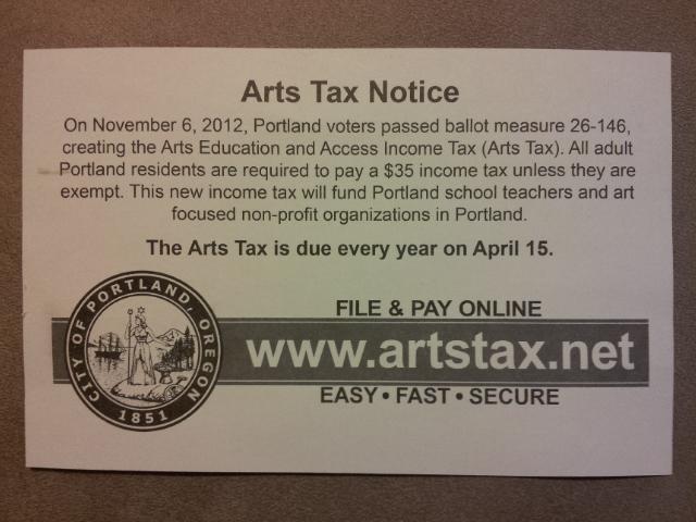 Portland Arts Tax - Wikipedia