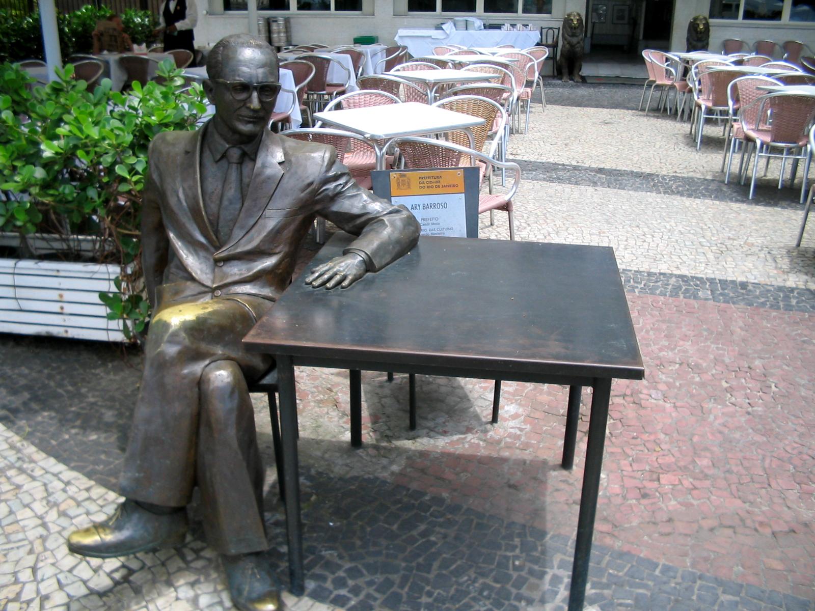 Estátua do compositor no bairro do Leme