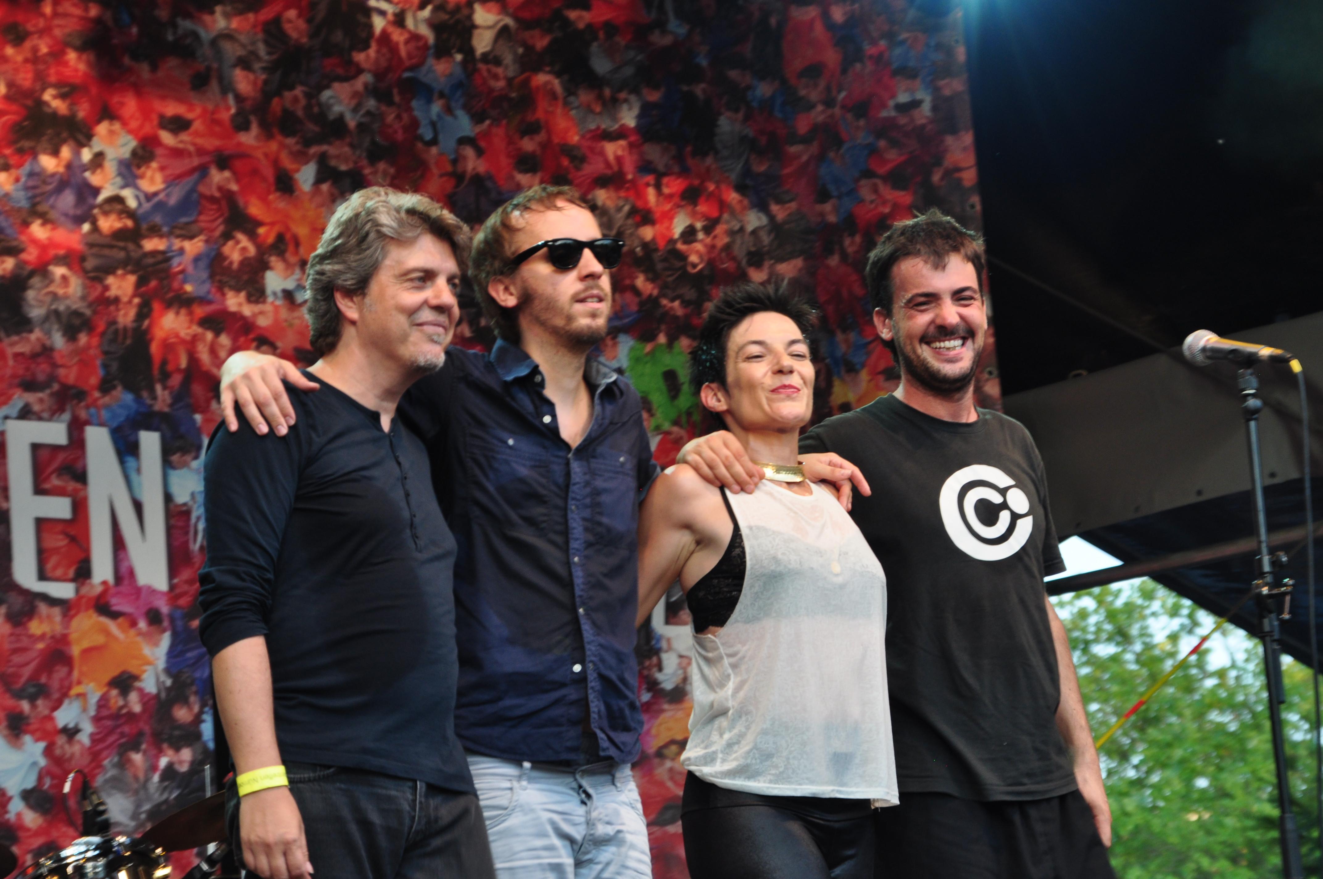 La Shica con grupo 2013 en Núremberg