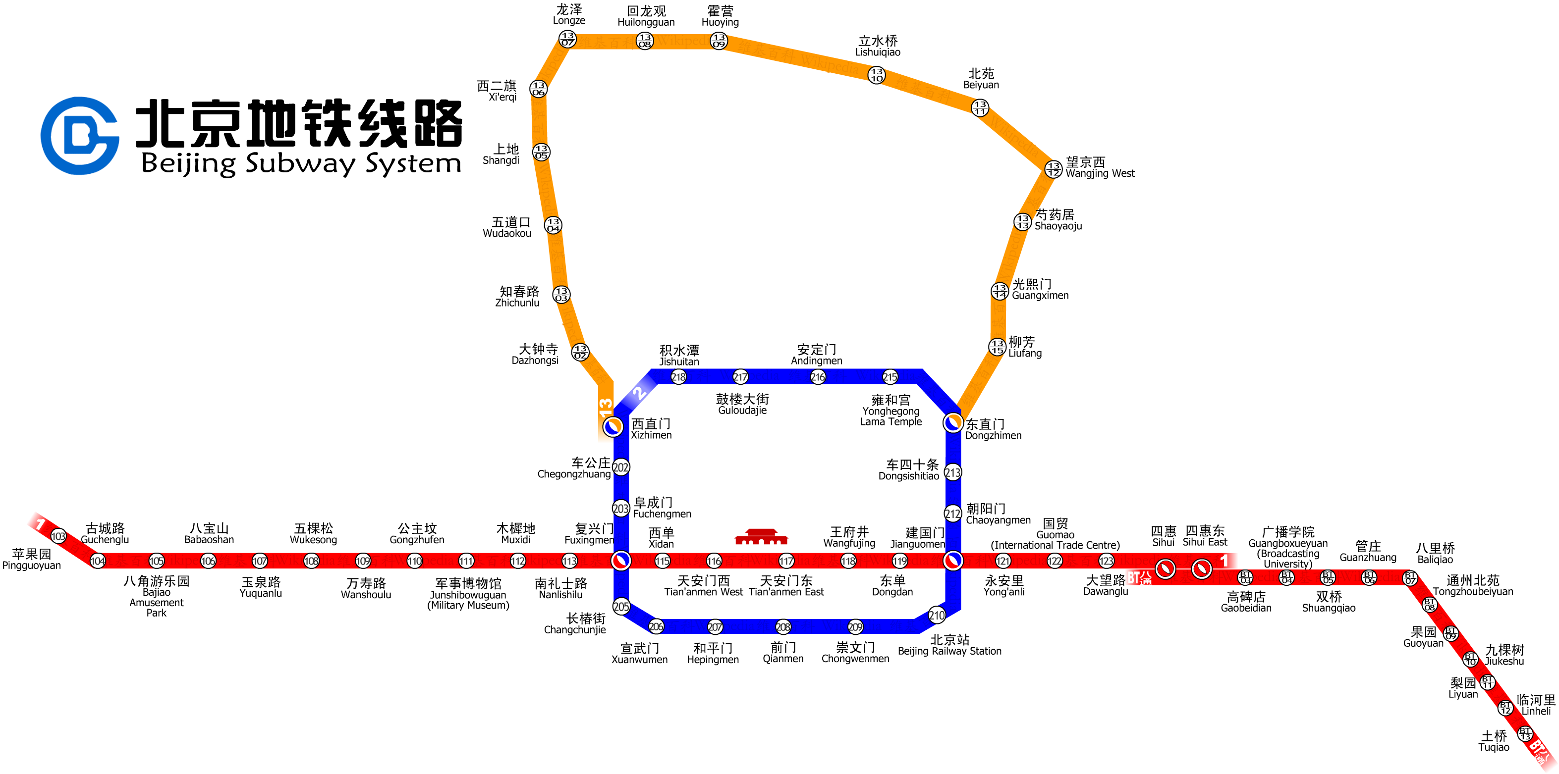 Beijing Subway Wikimedia Commons