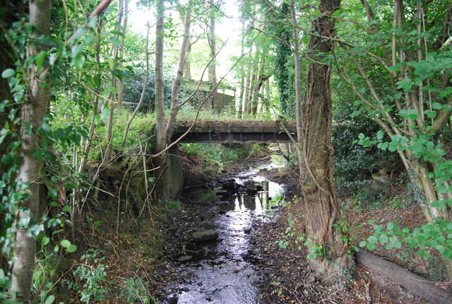 File:Bridge over a small stream, Forge Wood - geograph.org ...