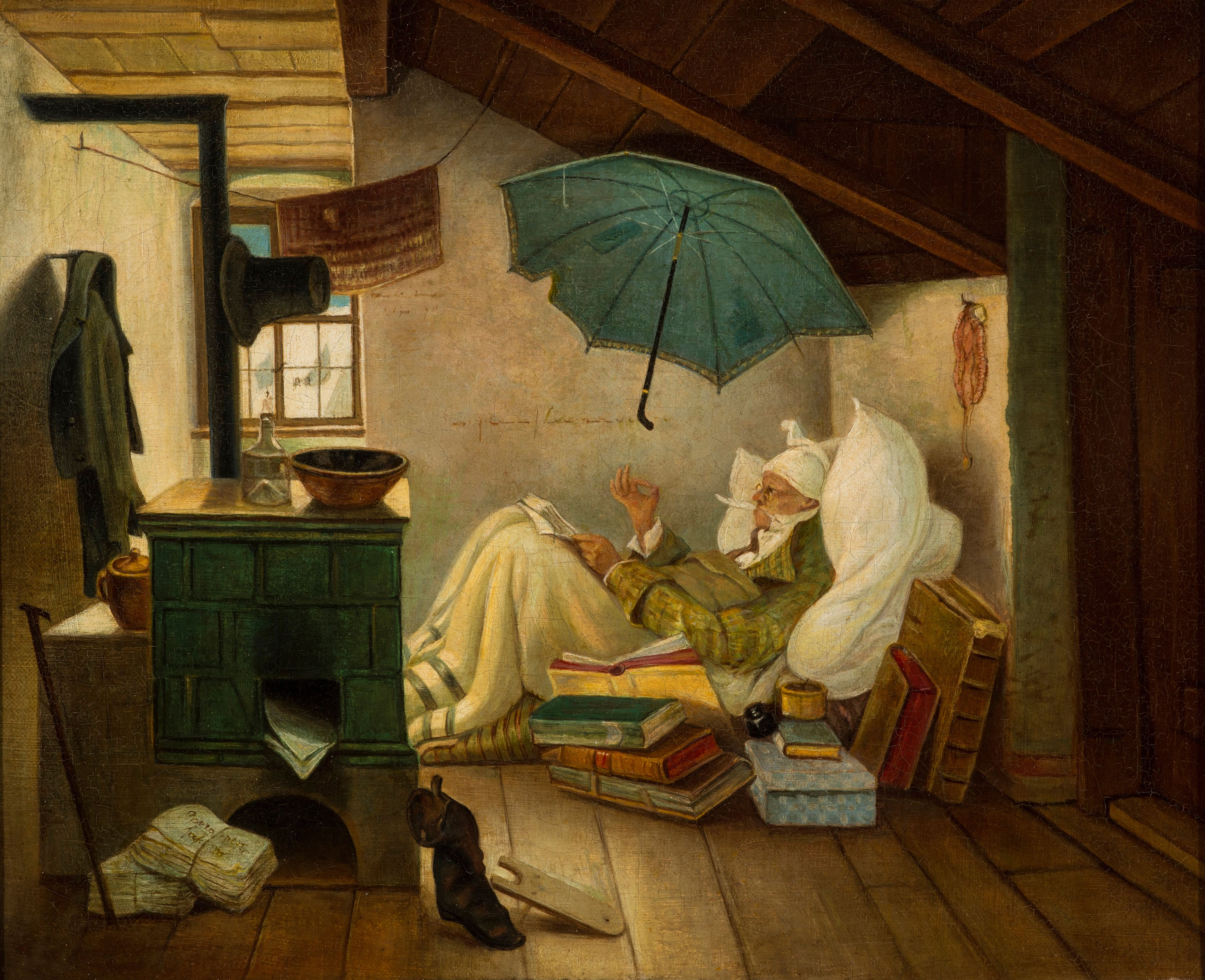 File:Carl Spitzweg - Der arme Poet (1837, Grohmann Museum ...