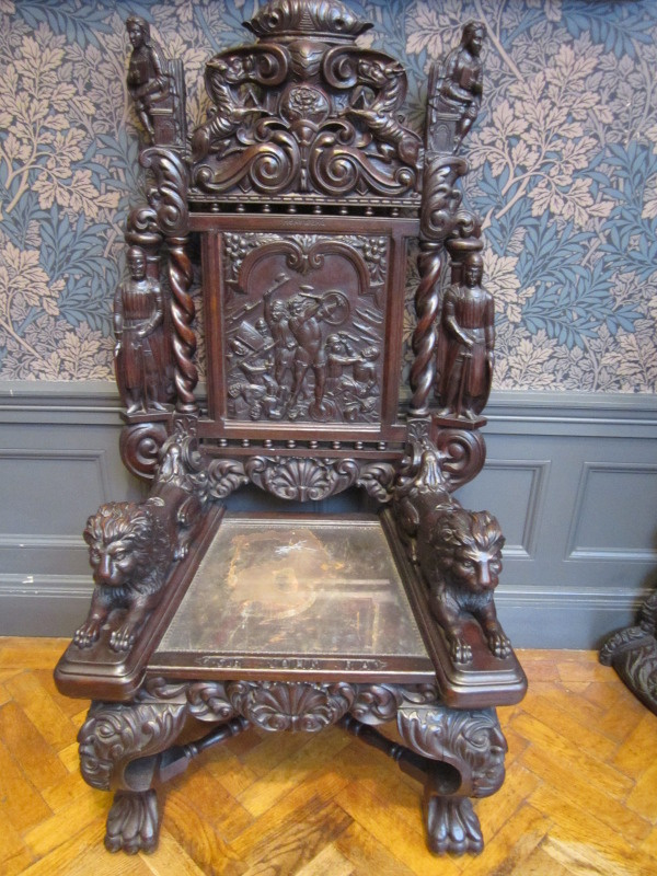 File:Carved Wooden Chair, Williamson Art Gallery
