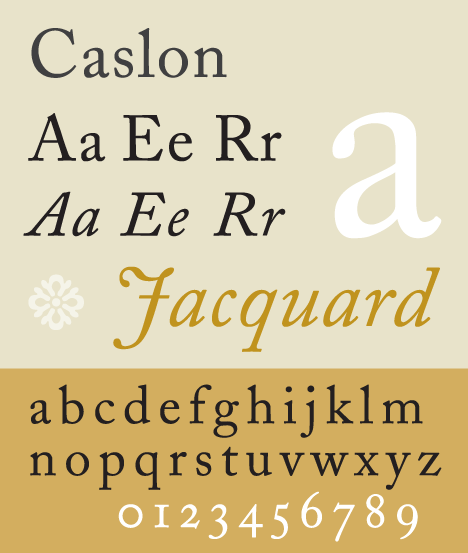 Adobe Caslon Sample