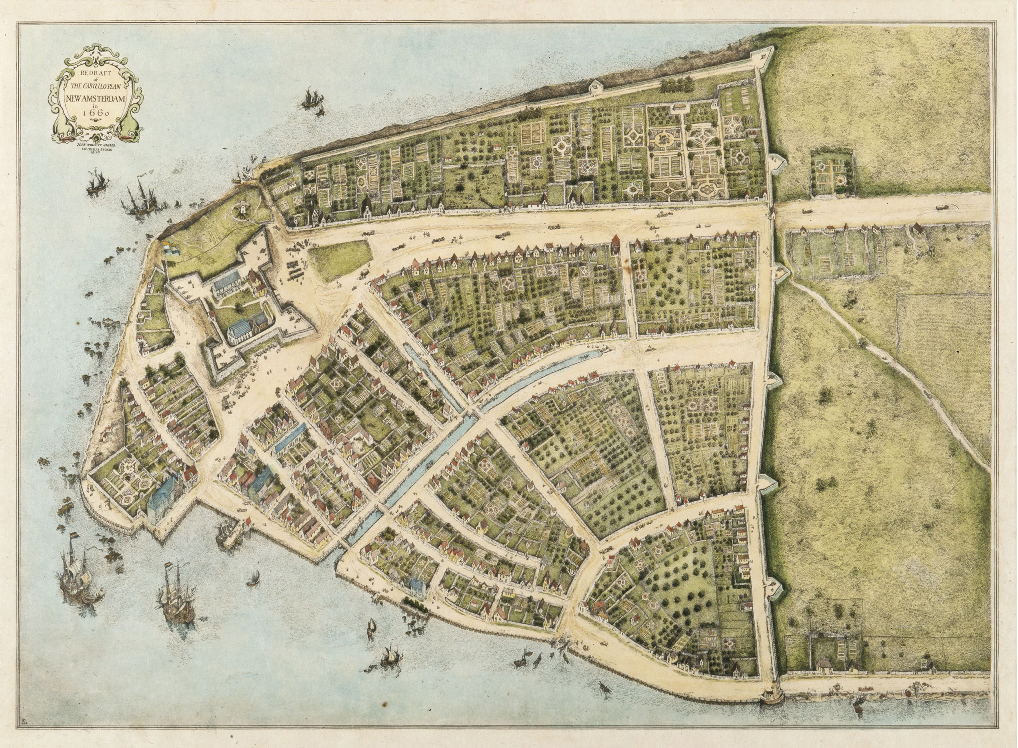 Old Map Of New York.Fort Amsterdam Wikipedia