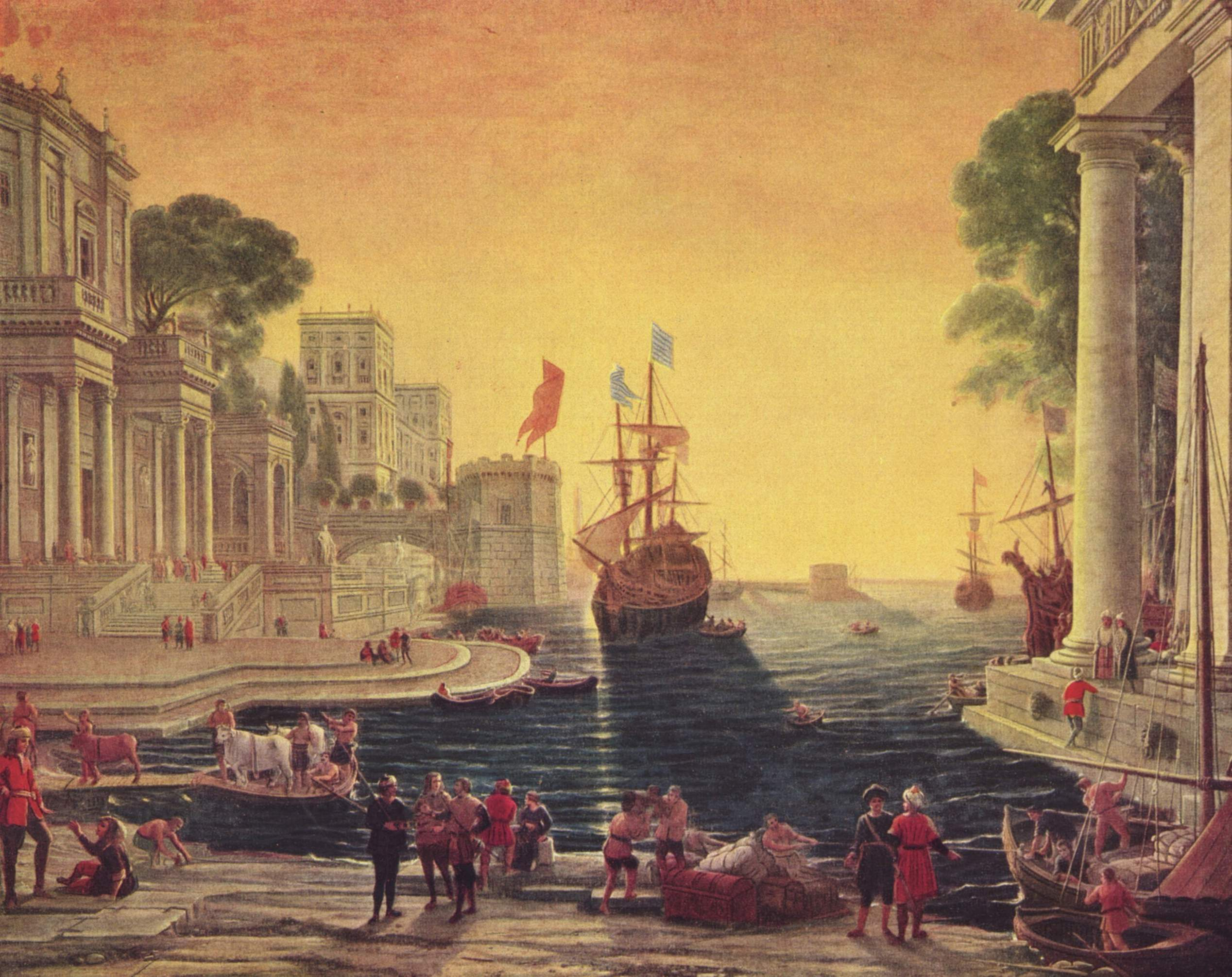 "Painting, ""Odysseus Returns Chryseis To Her Father,"" by Claude Lorrain, 1644"