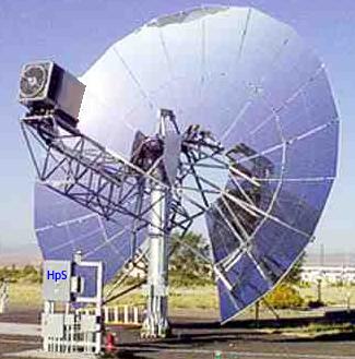 Dish/Stirling System von SOLO Motoren in der Forschungsanlage Almeria Spanien