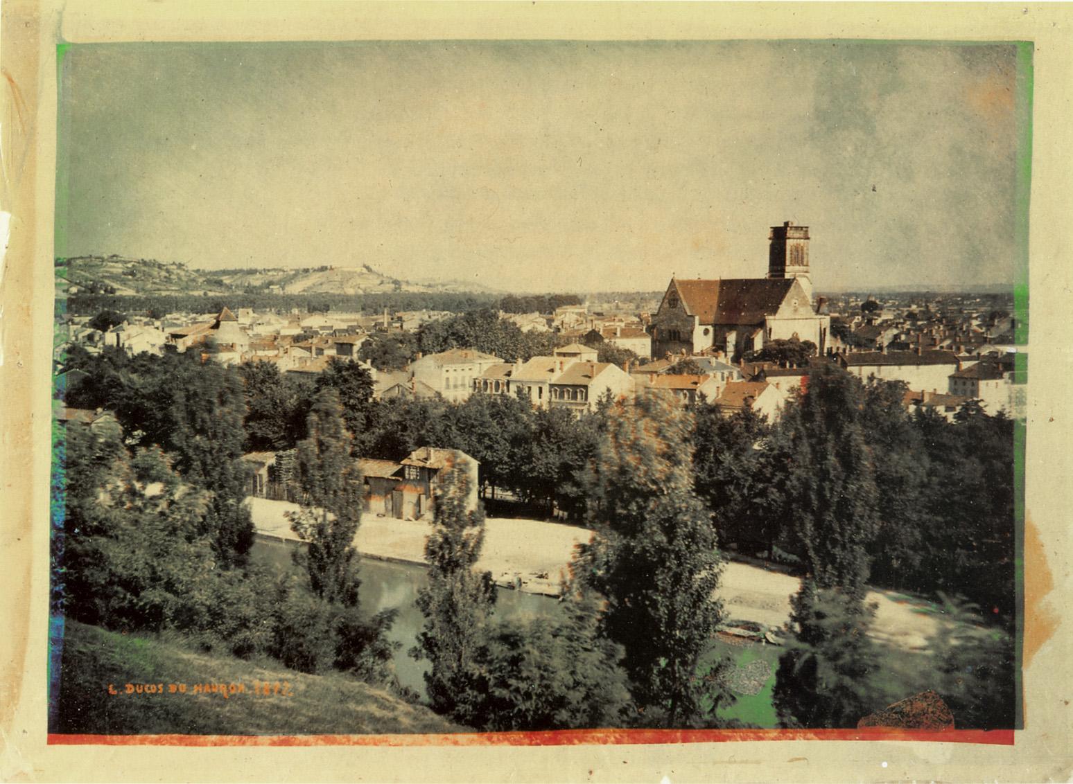 Photographie d'Agen prise en 1877 par Louis Ducos du Hauron