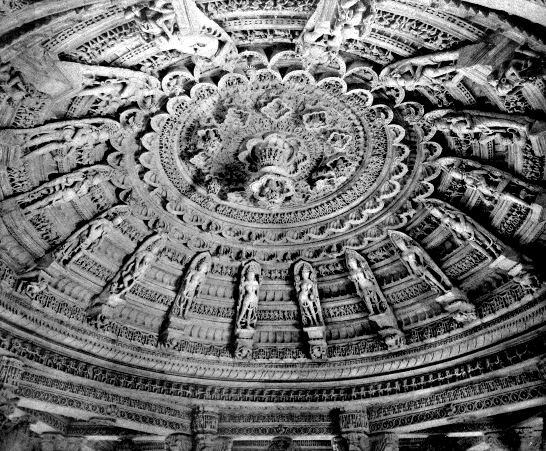 File:EB1911 Indian Architecture - Roof of Dome of Vimala's Temple on