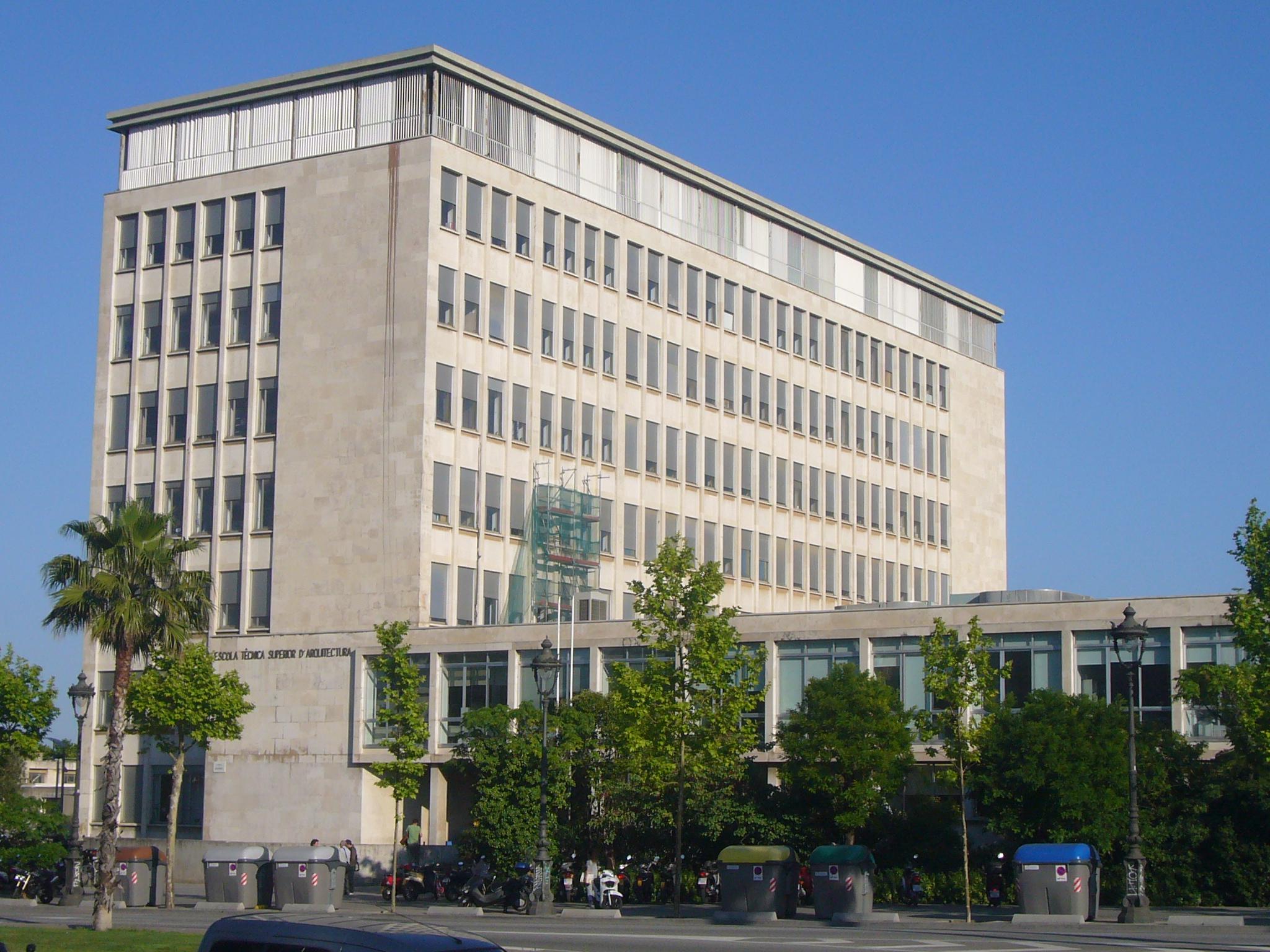 Escuela Técnica Superior de Arquitectura de Barcelona - Wikipedia, la  enciclopedia libre