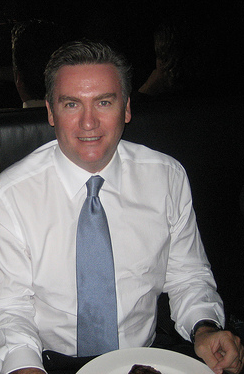 Presenter Eddie McGuire (1994-2005, 2017) and President of Collingwood Football Club