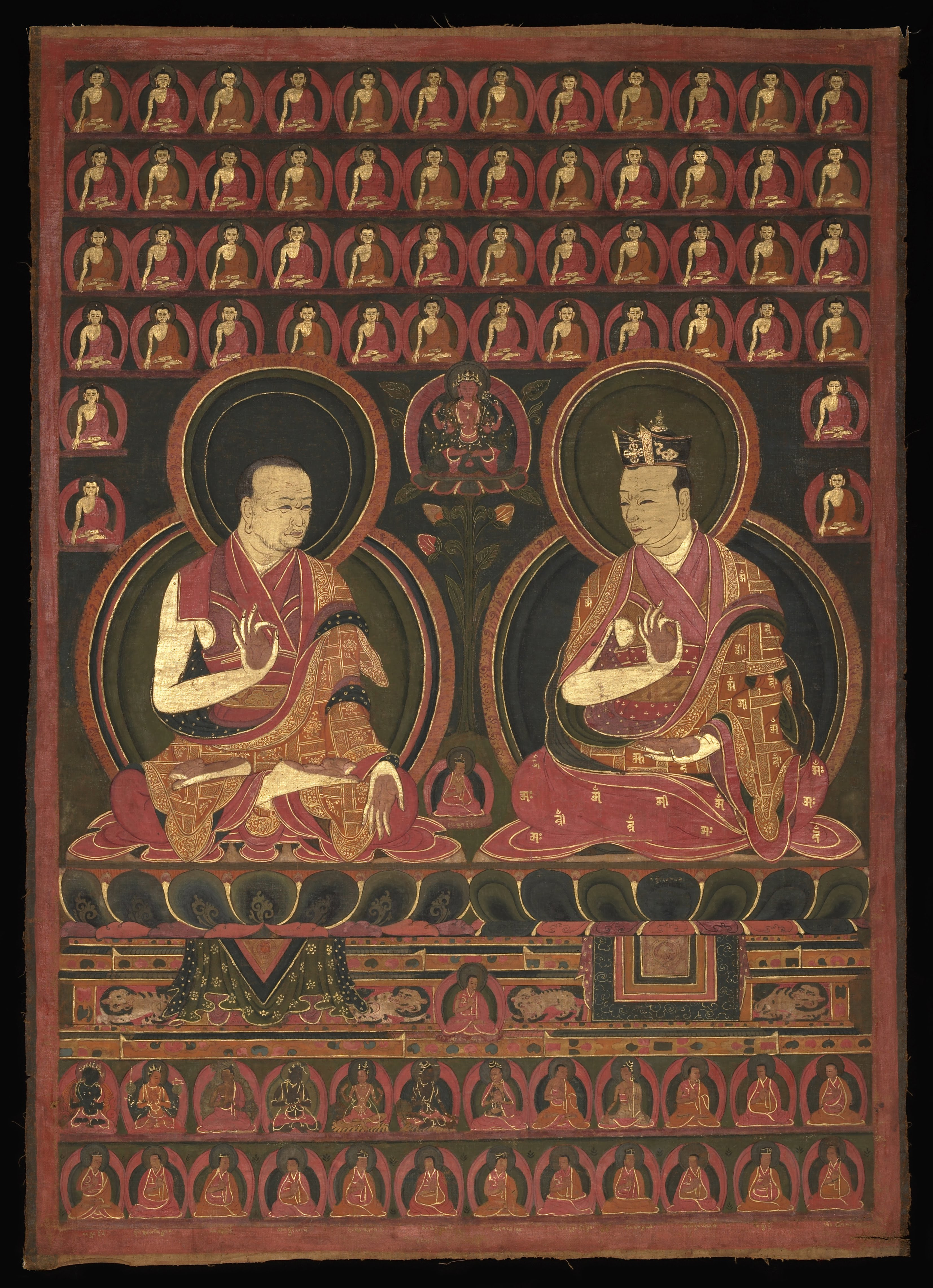 File:Eighth Karmapa, Mikyo Dorje (1507-1554) and his teacher the