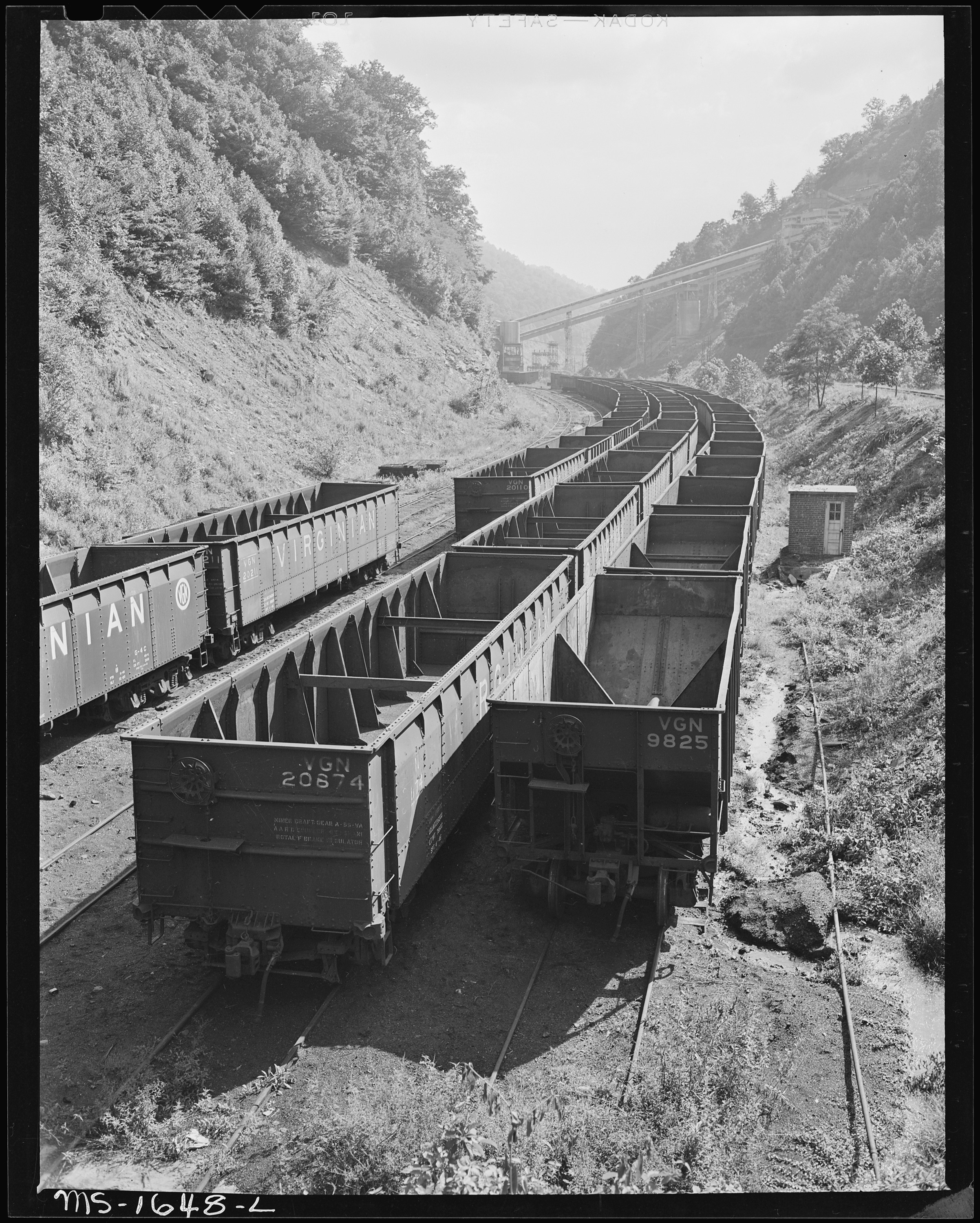 File Empty Coal Cars For Loading At Tipple Koppers Division Kopperston Mine