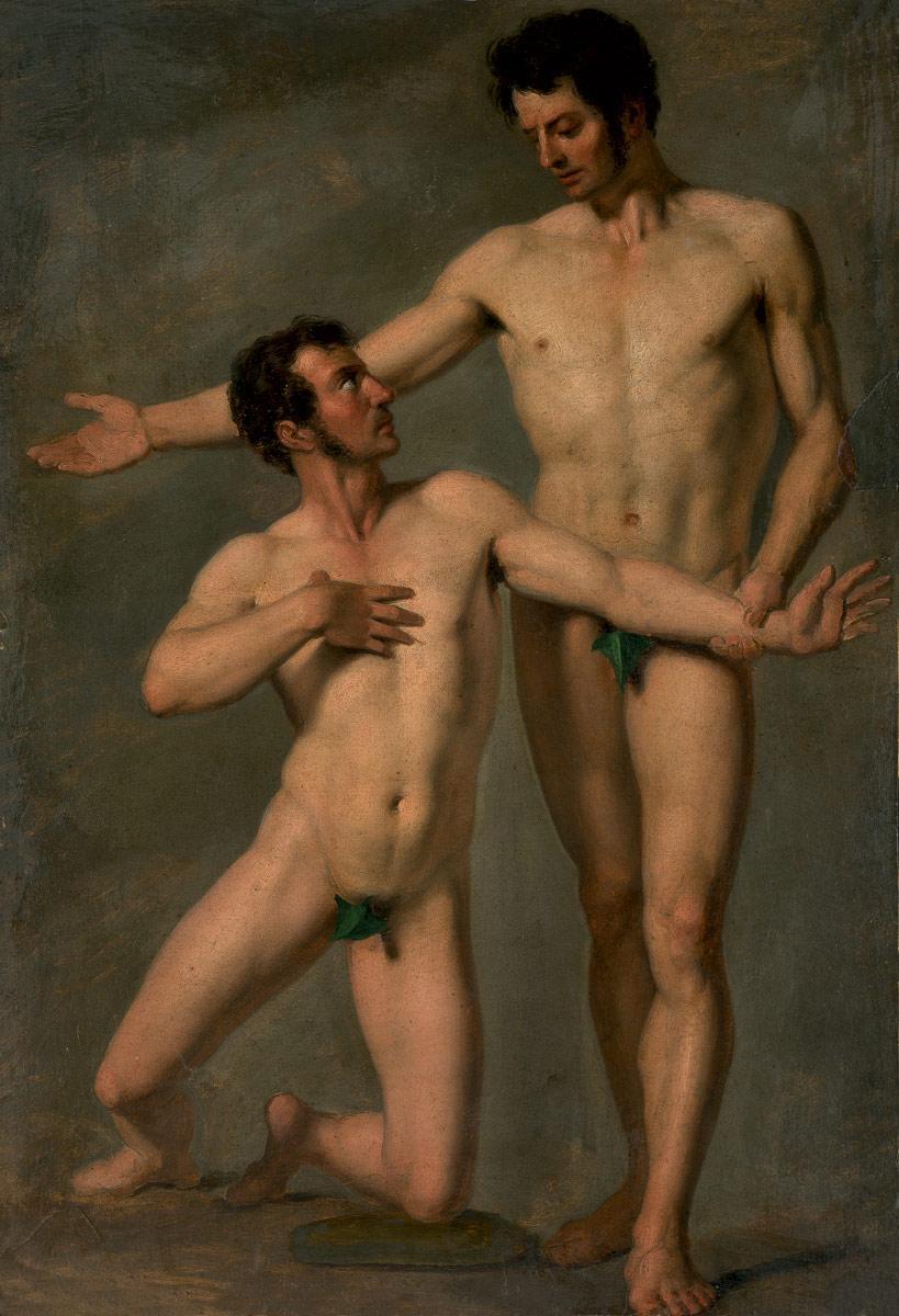 Nacktes Ringen des homosexuellen Mannes