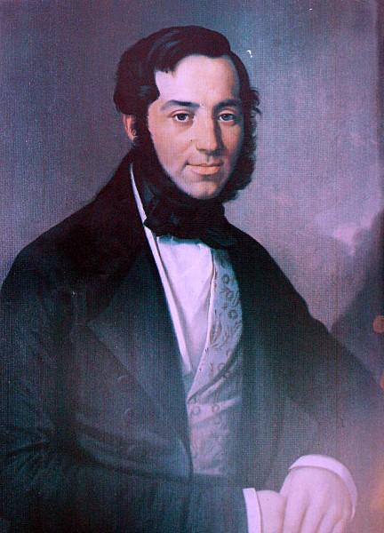 František Škroup. Portrait by [[Antonín Machek