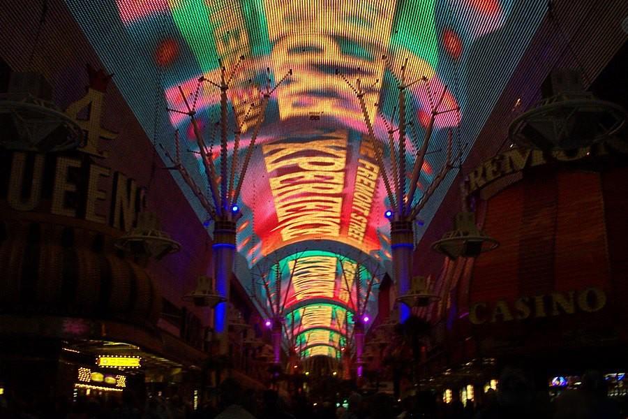 Fremont Street's illuminated