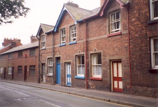 Gabled houses, Mill Street, Wem - geograph.org.uk - 345103