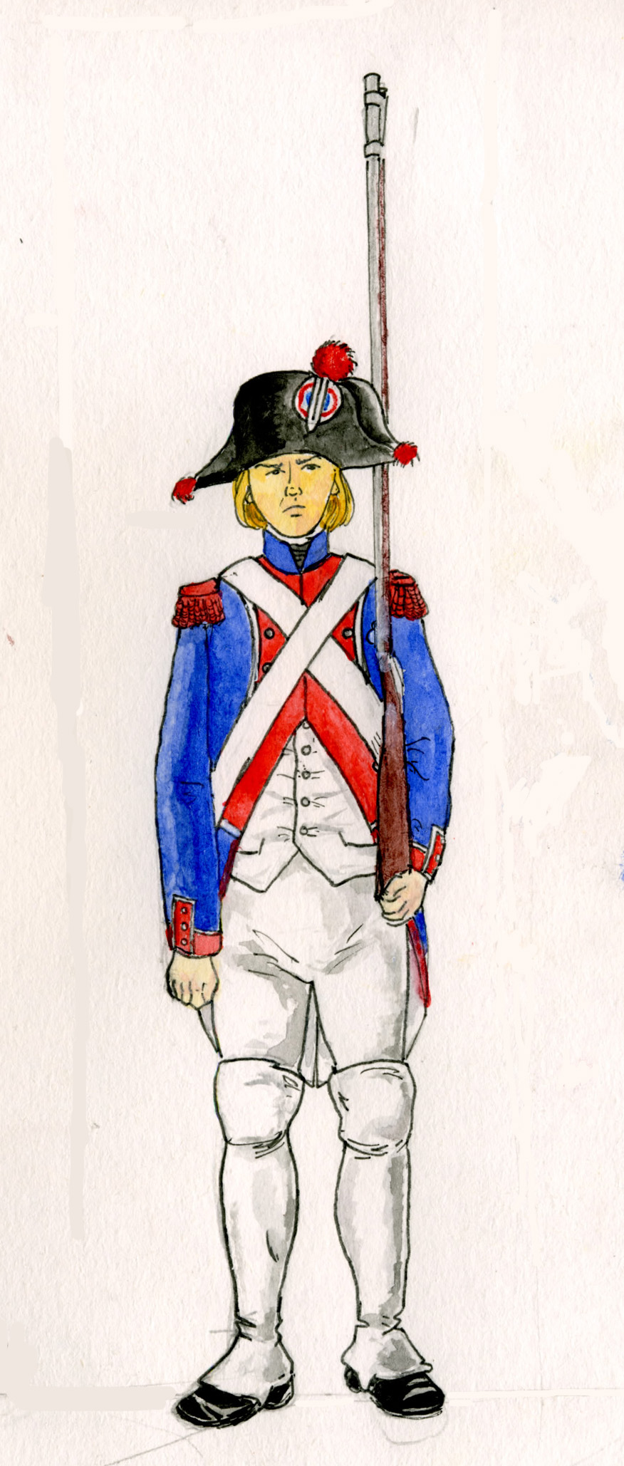 Fusilier of the Guard of the Convention, 1795.