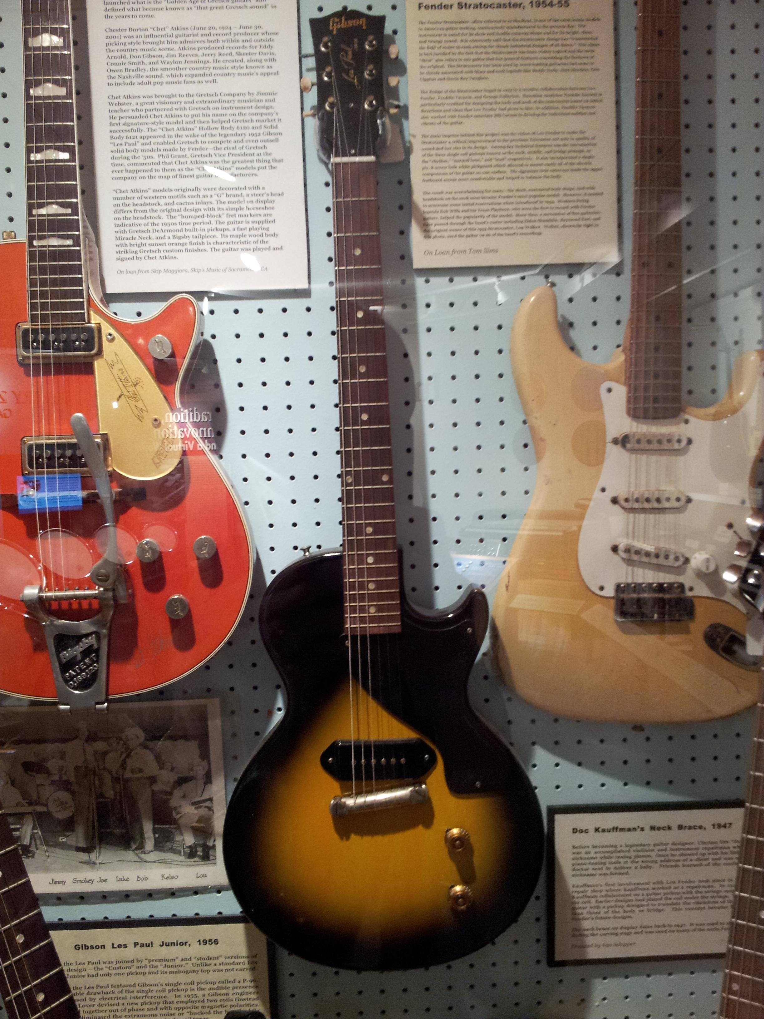 Filegibson Les Paul Junior 1956 Fender Stratocaster 1954 55