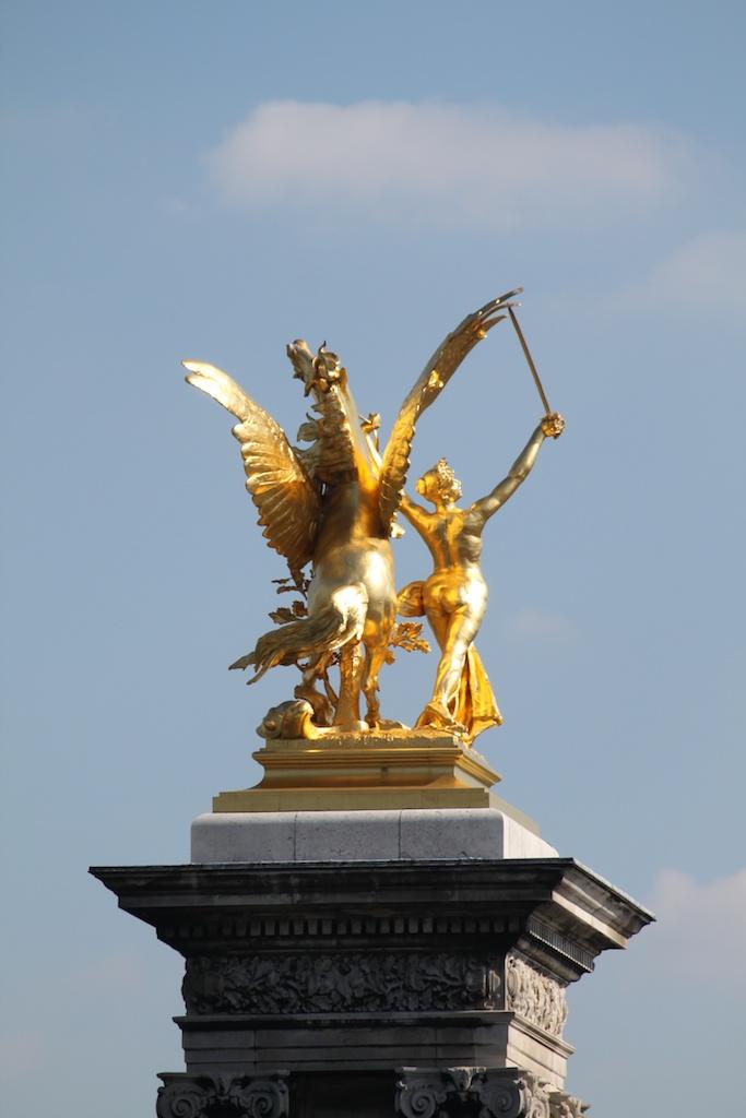 Louis XIVs France Statue at Pont Alexandre III in Paris
