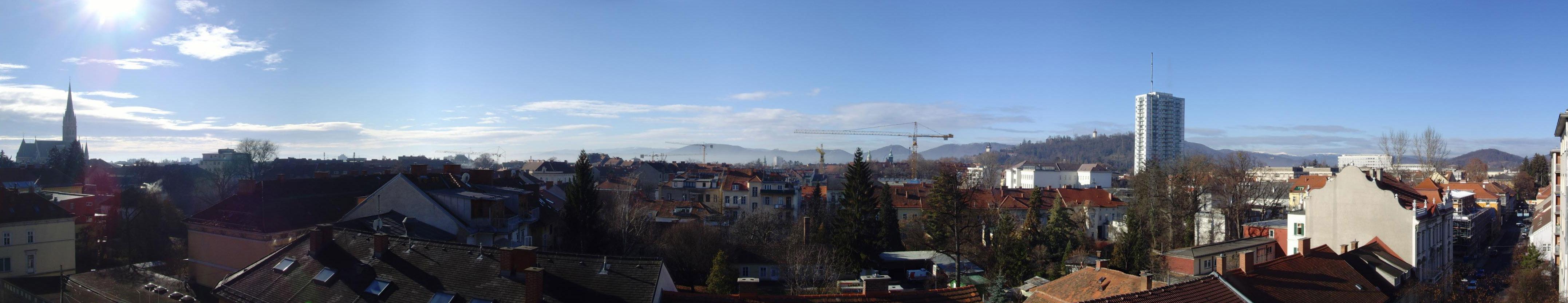 Panorama von St. Leonhard in Richtung Altstadt