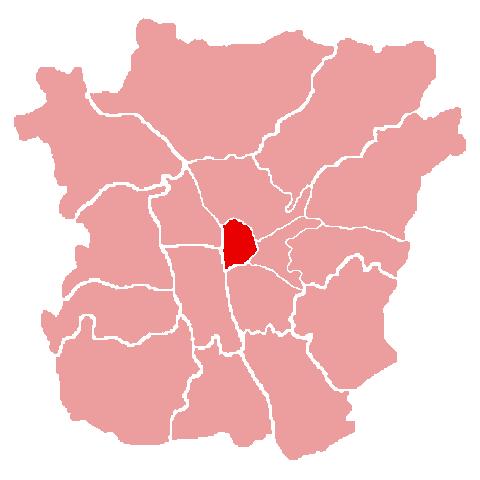 Lage des Bezirks Innere Stadt