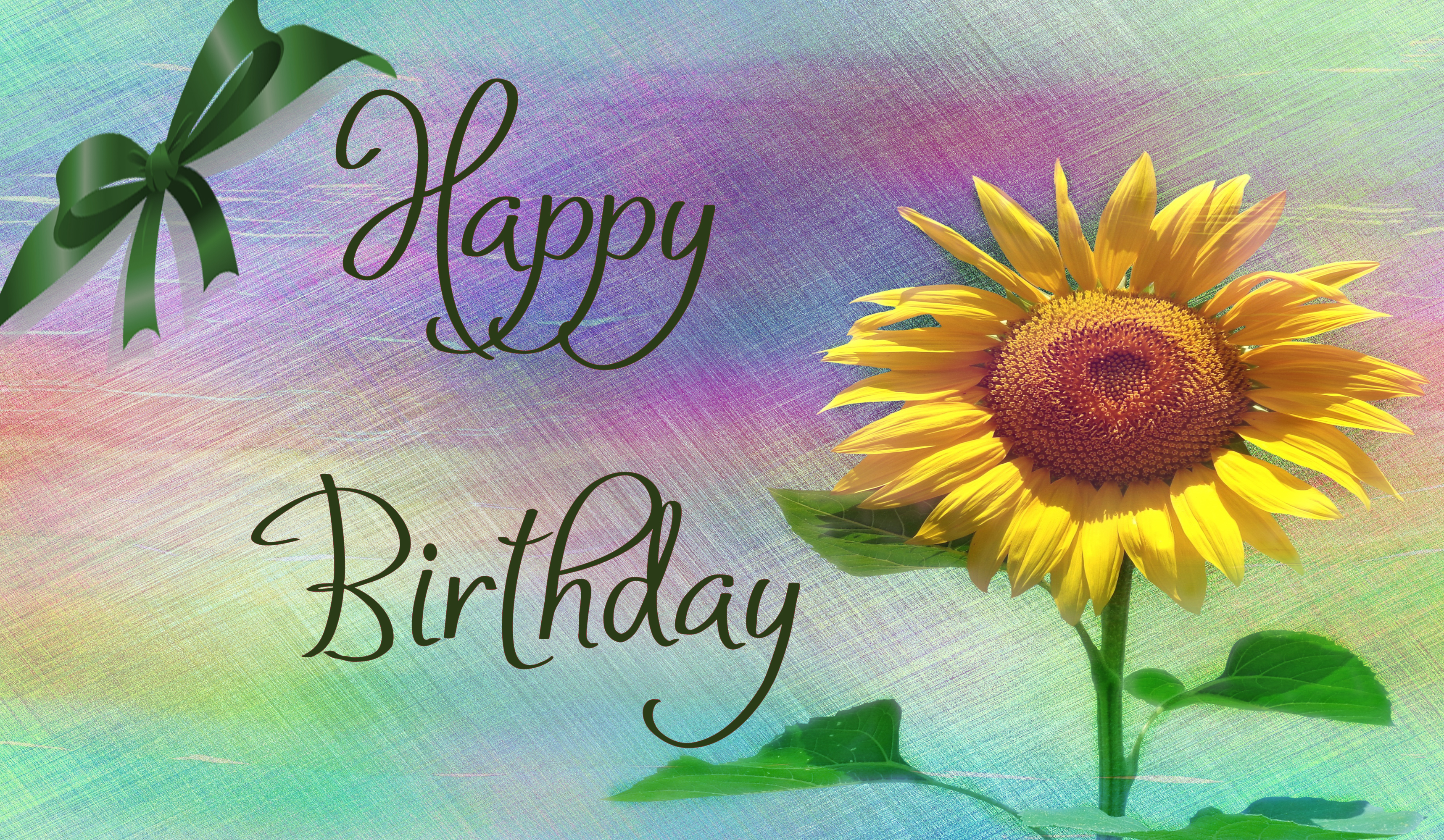 File:Happy Birthday with Sunflower.jpg - Wikimedia Commons |Creative Commons Birthday