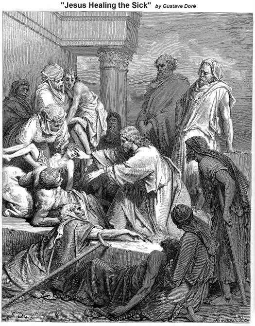 jesus healing in the land of the gennesaret