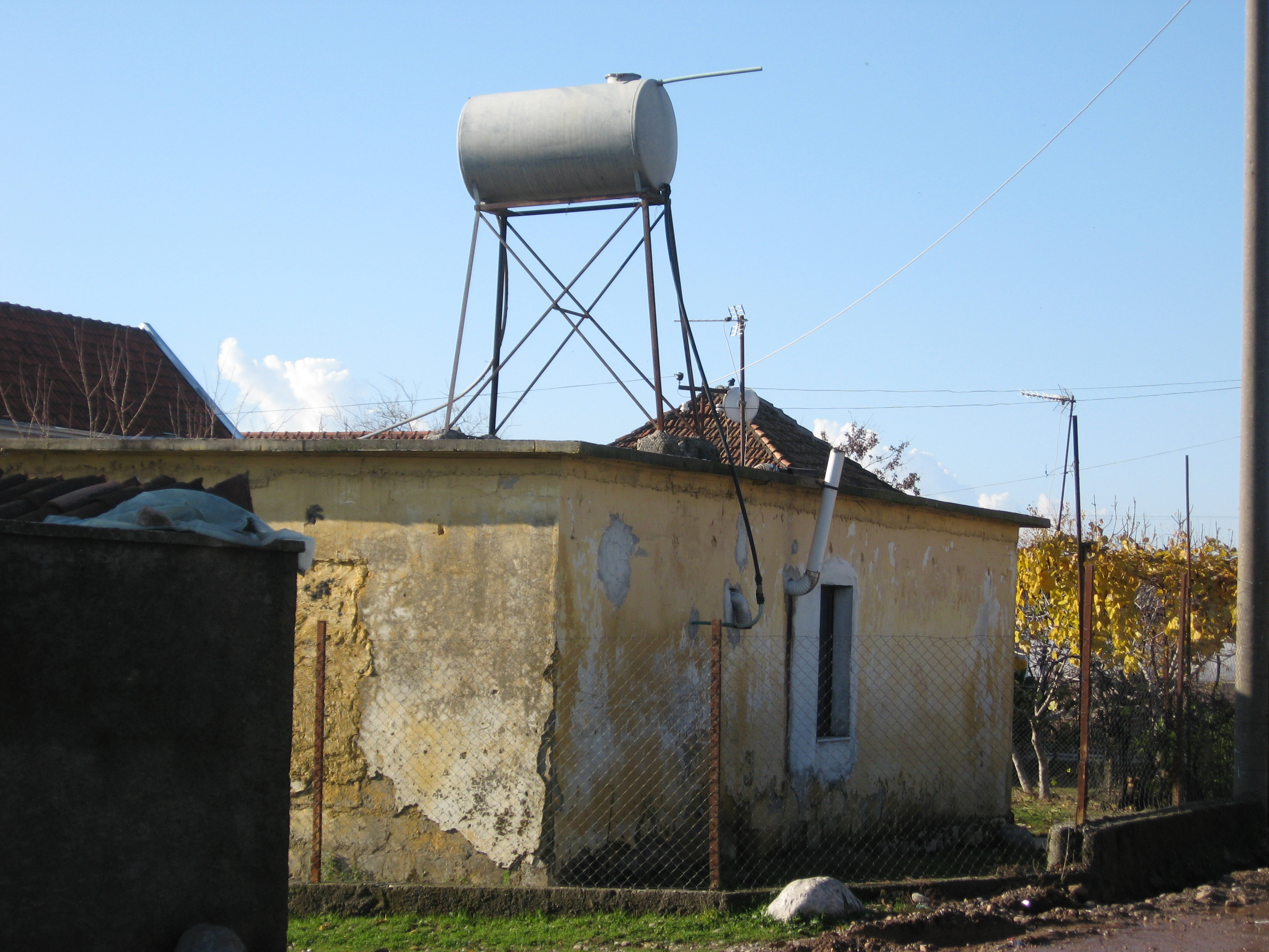 File House With Water Storage Tank In Dober Albania 6666974933 Jpg