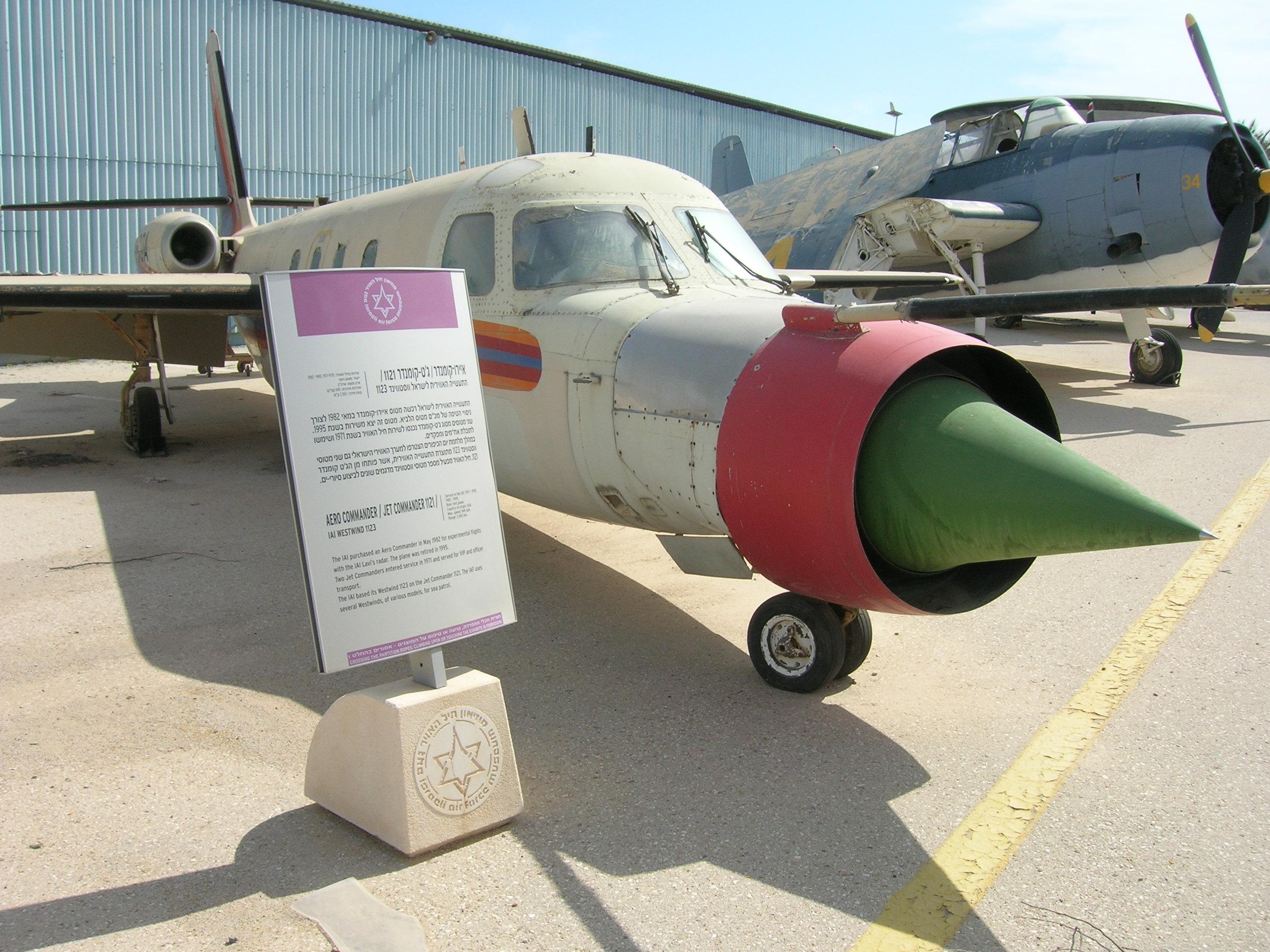 File:IAI Westwind 1123 Lavi radar testbed (Aero Commander) (468948366).
