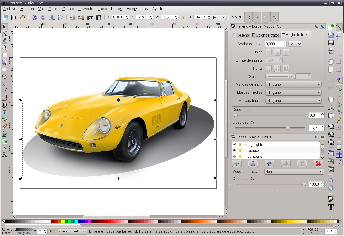 File Inkscape software