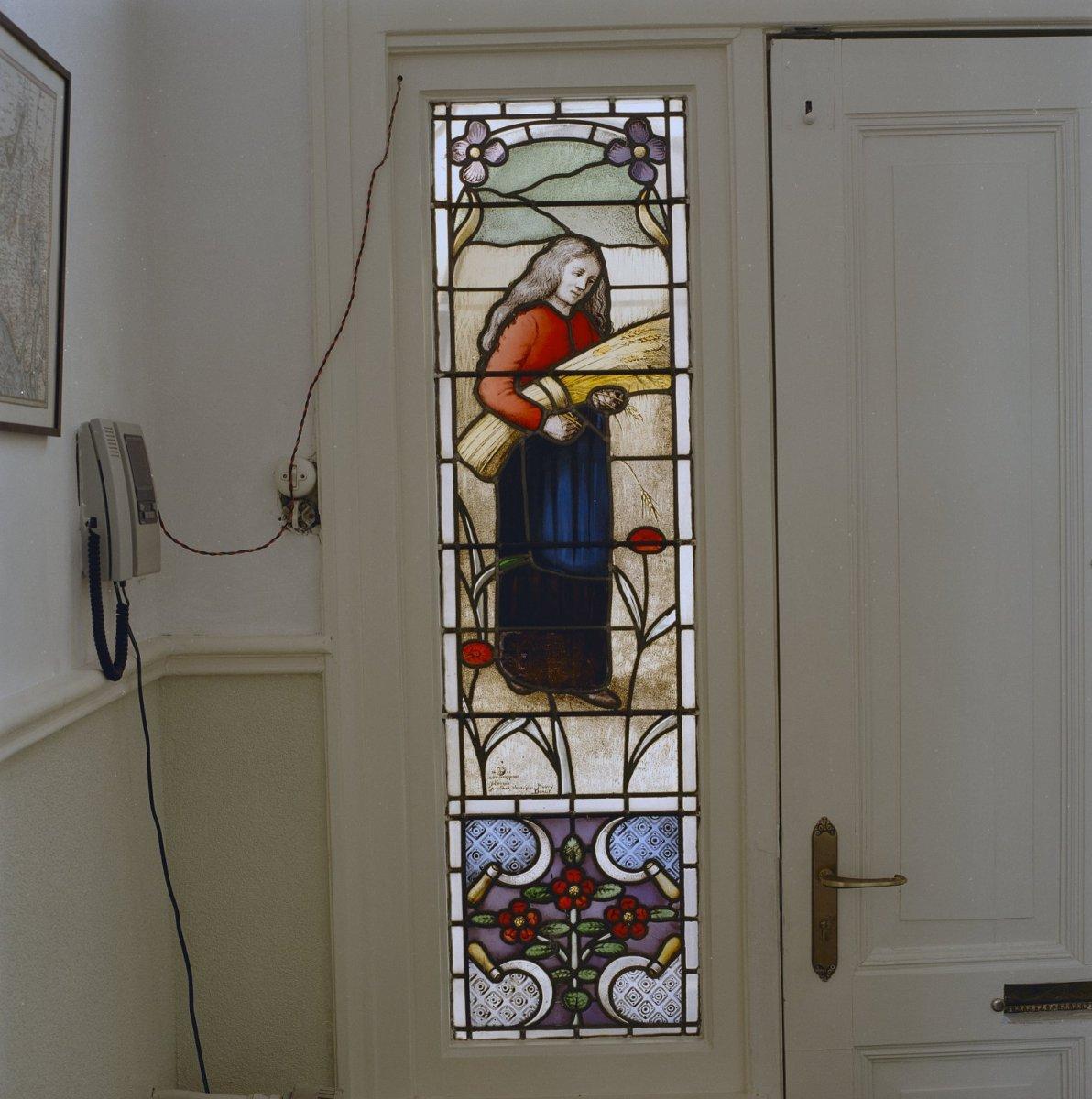 Deur Met Glas.File Interieur Deur Met Glas In Lood Tholen 20331877 Rce Jpg