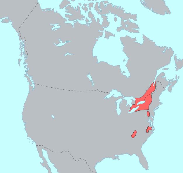 Iroquoian Languages Wikipedia - Language family map
