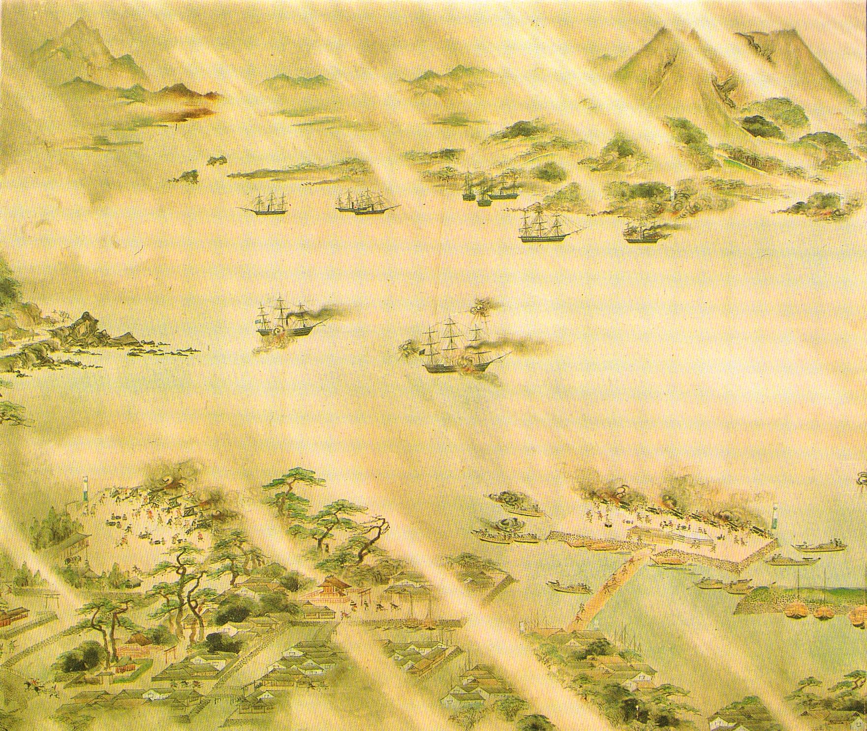 薩英戦争絵