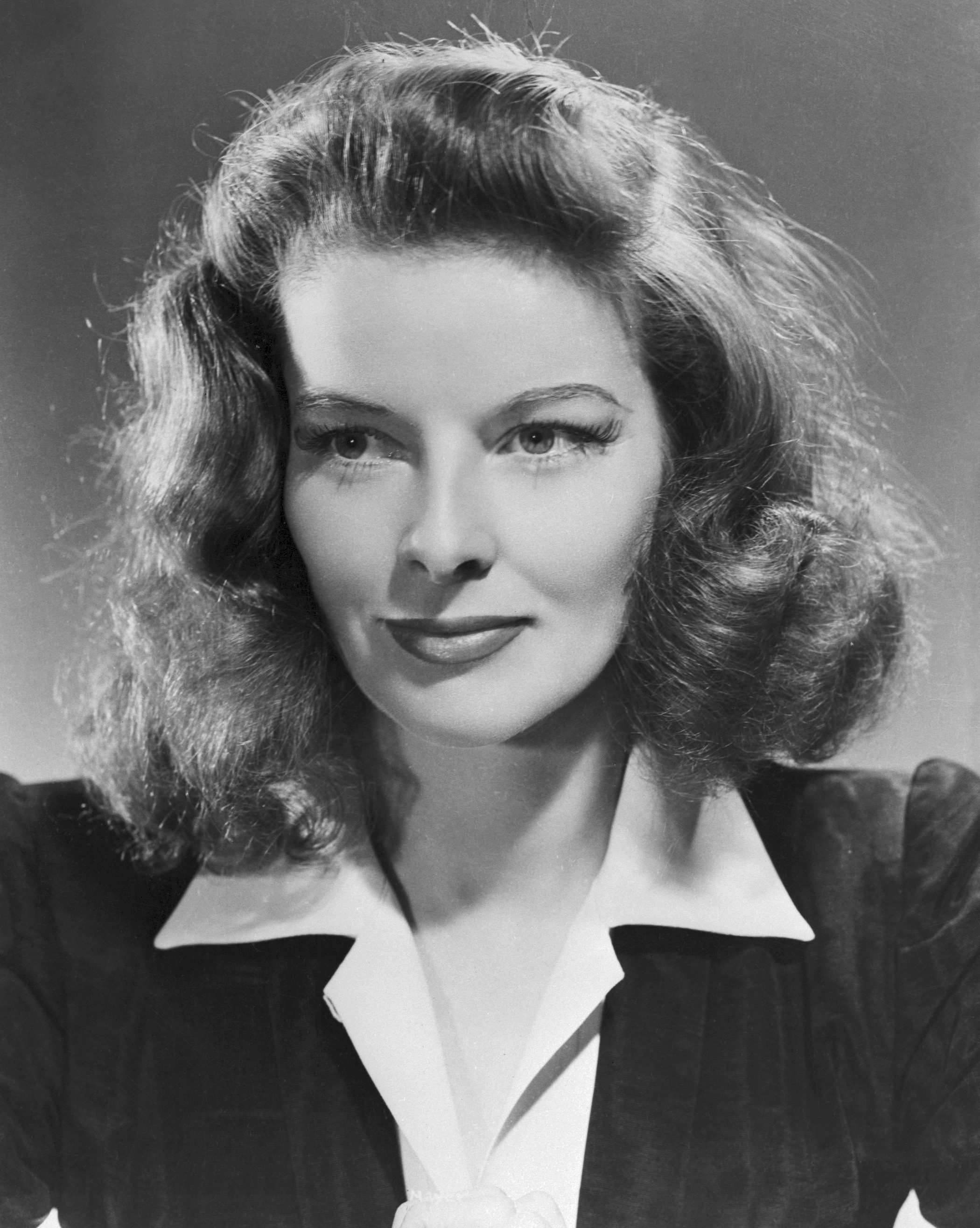 Katharine Hepburn Howard Hughes Relationship Portrait of hepburn, aged 33