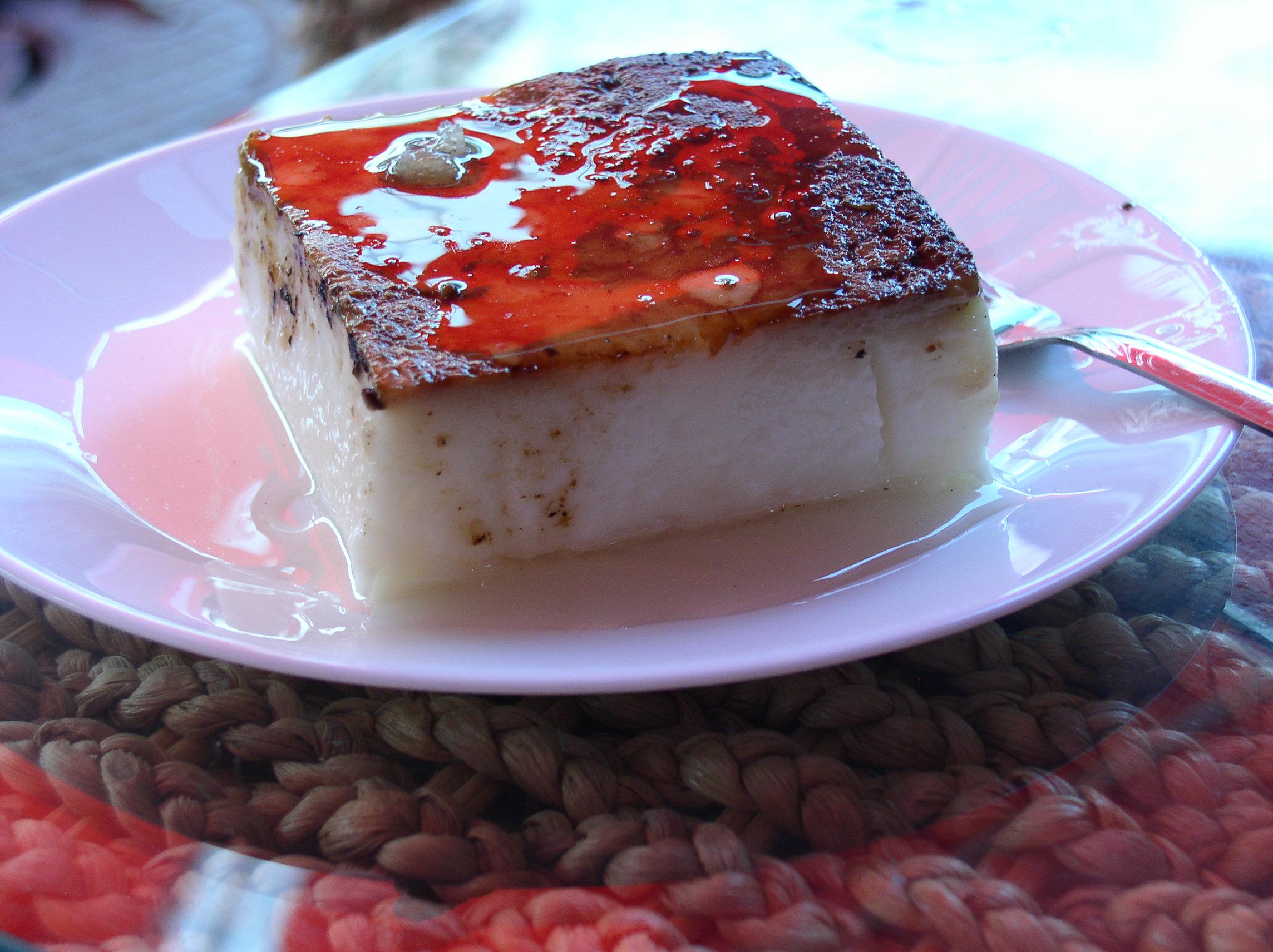 Turkish dessert milk pudding kazandibi burnt sugar caramelised