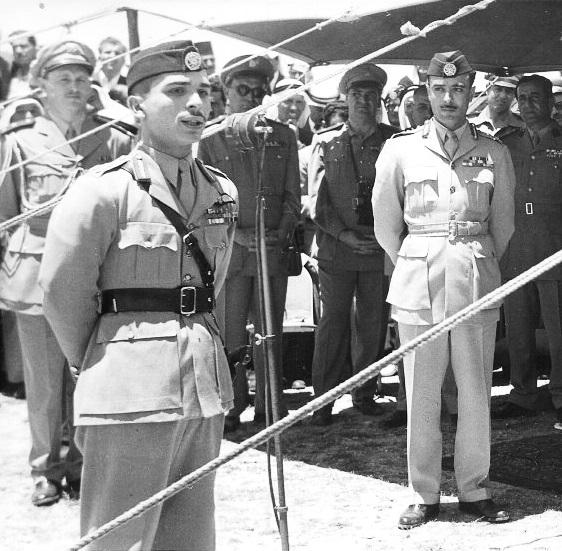 King Hussein and Abu Nuwar, 1956