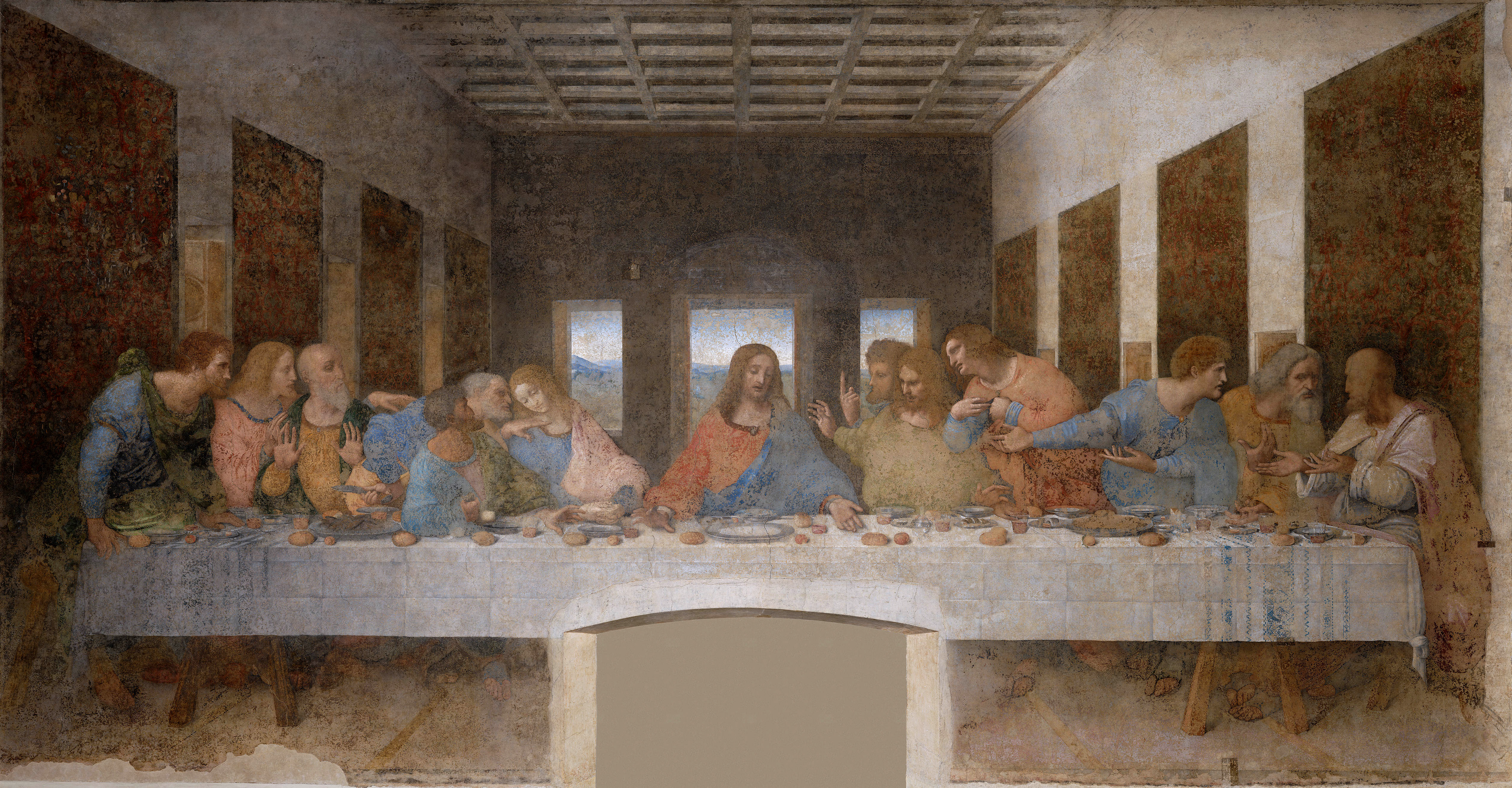 The Last Supper by Leonardo da Vinci in the Church of Santa Maria delle Grazie, Milan