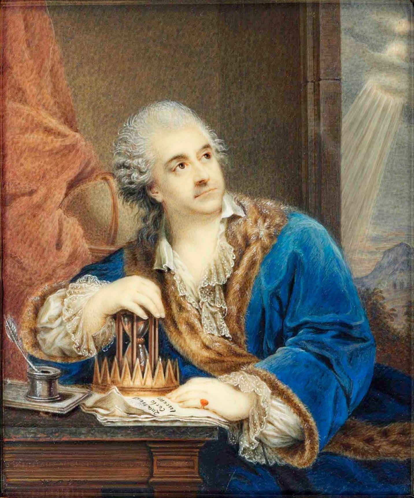 Lesseur - Portret Stanisława Augusta z klepsydrą