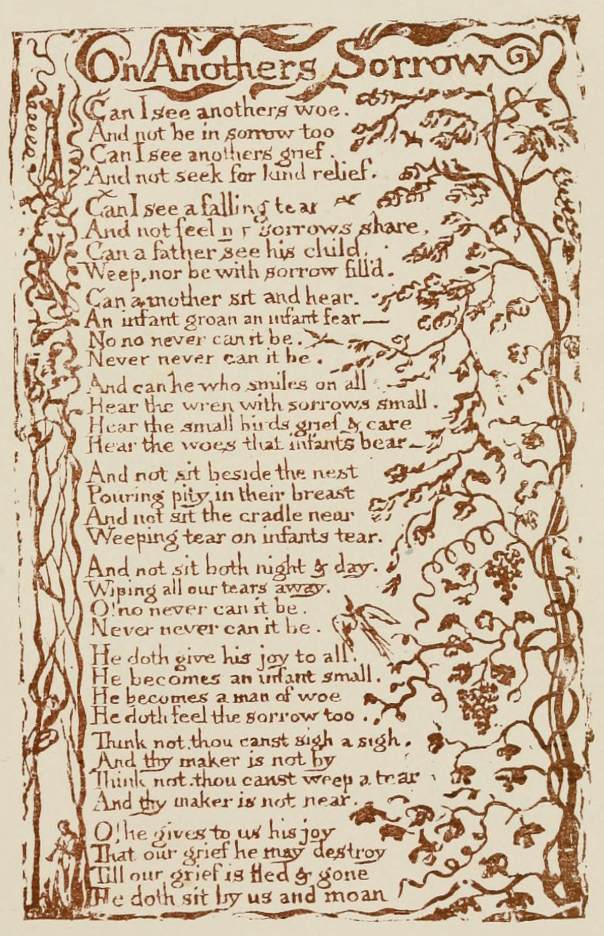 the nature of god in the poems of william blake The poems of william blake study which goes against the laws of nature, as support for his thesis blake concludes the poet conceives god as a part of.