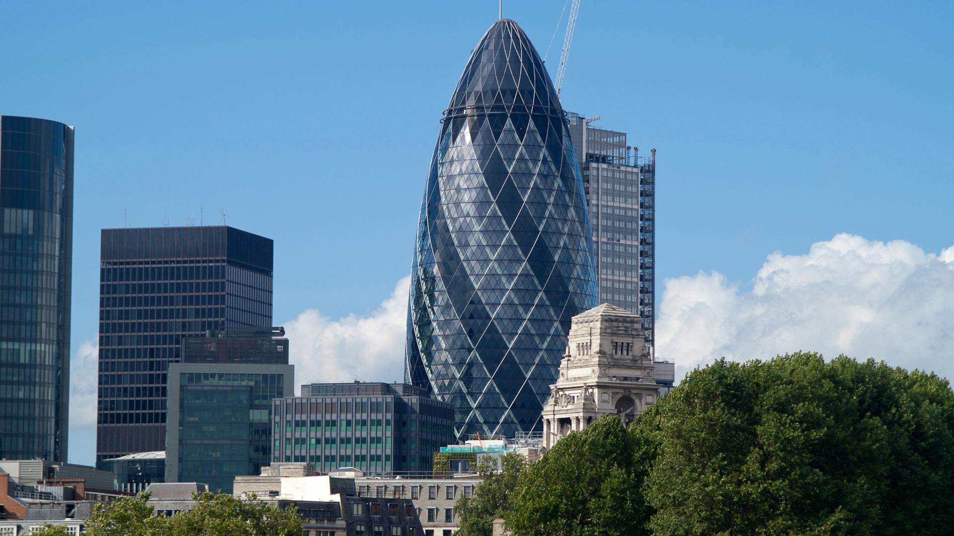File london landmark modern for Architecture moderne londres